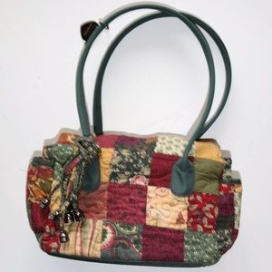 Fall Colors Patchwork Quilted Purse PRISTINE!